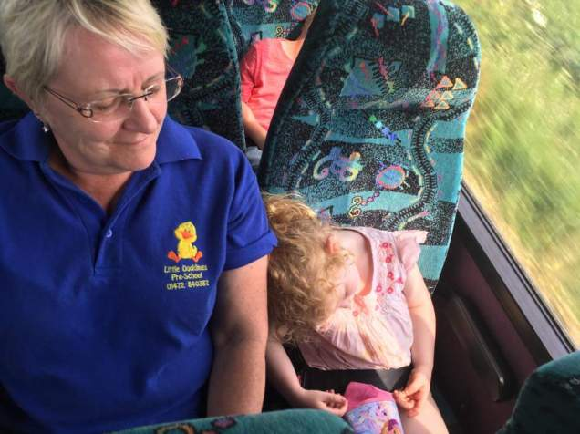 Napping on Granny Anne