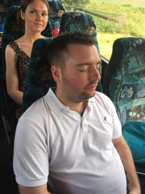 The trip was too much for this dad! A well deserved rest was needed!
