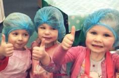 ANJA, OLIVIA AND ELLISE HELPING AT TEA TIME!